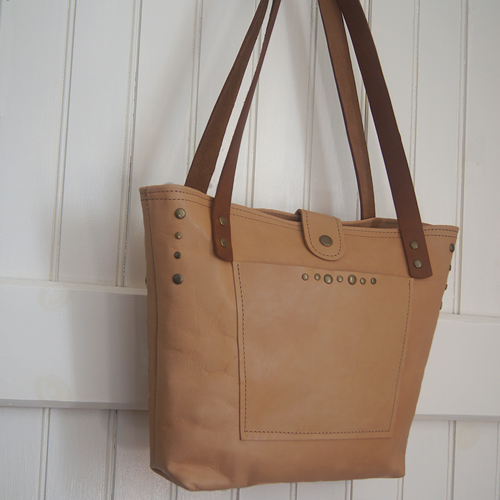 Natural Leather Tote